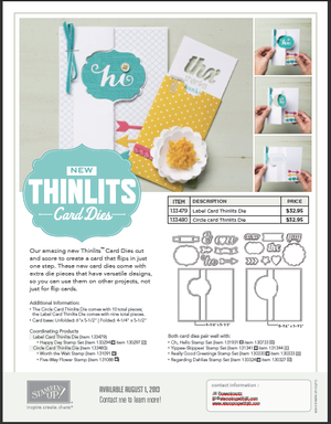 Thinlit card die flyer